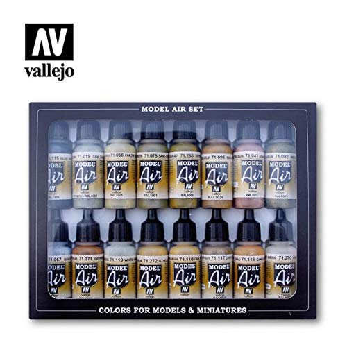 Acrylicos Vallejo Wwii Europa e Africa tedesco'Model Air set