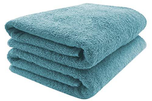 ZOLLNER 2 Asciugamani per la Sauna, Blu petrolo, 70x200 cm, Tanti Colori