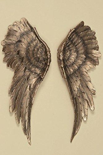 B&B Wanddeko Engelsflügel 2 Stück Antik Gold 54x22cm Flügel Engel Dekoration