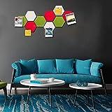 Sintió Hexágono Junta Azulejos Set w/Full soporte adhesivo, tablón de notas de colores, Crea Tu Propia Junta Boletín Wall cualquier lugar de su casa for crear un lugar práctico for guardar notas Obj