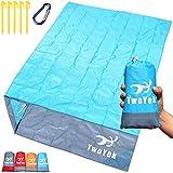 Outdoor Beach Blanket Picnic Mat - Lightweight Compact Portable Pocket...