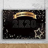 新しい7x5ftプロムナイトパーティー2K20背景ゴールデンスター装飾バナー写真背景卒業ナイトパーティープロム装飾高校卒業写真スタジオの小道具