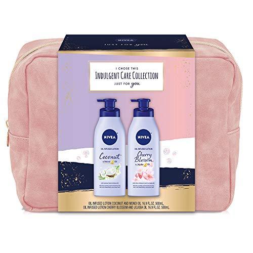 NIVEA Indulgent Skin Care Collection, 2 Piece Gift Set for Her, 33.8 Fl Oz