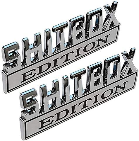 Xcbw Shitbox Edition 3d Metall Auto Logo Emblem Universal Auto Kofferraum Aufkleber Aufkleber Zubehör Für F Ord C Hevrolet Und Andere Pickups 1pcs Küche Haushalt