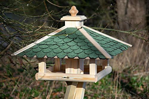 dobar 98540FSCe Klassisches Vogelhaus aus Holz, groß XL, 54 x 54 x 38 cm - 3