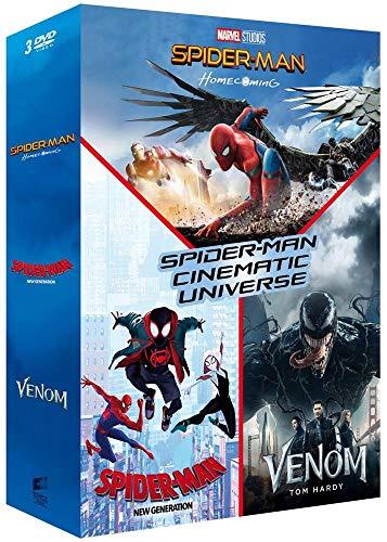 Coffret spider-man cinematic universe 3 films : homecoming ; new generation ; venom