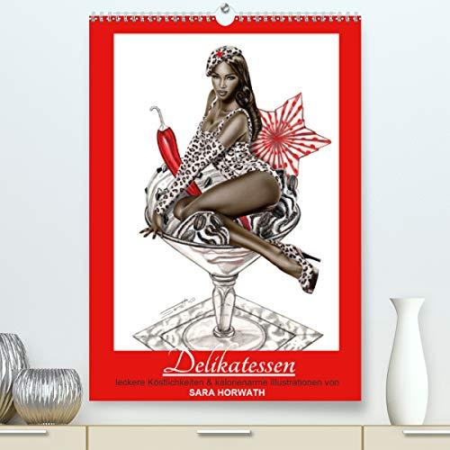 DELIKATESSEN - leckere Köstlichkeiten & kalorienarme Pin up Illustrationen, Zeichnungen, Grafiken und Malerei der Marke