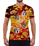 Alistyle Unisex Short Sleeve Women Casual 3D Meat Roll Cat Creative Print T-Shirt Graphic Tee