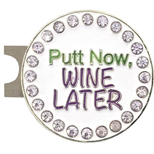 Putt Now, Wine Later Golf Ball Marker