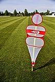 POWERSHOT Soccer Wall Rouge - sans la Barre de Slalom - Mannequin défensif Soccer Wall pour Entrainement Football