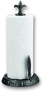 Old Dutch 3153AP Fleur de Lis Standing Paper Towel Holder, Antique Pewter