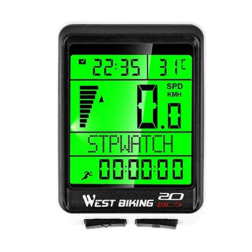 Mix Vogue Bicycle Computer Wireless Speedometer, Waterproof Cycling Odometer with Automatic Wake-up LCD Backlight for Outdoor Cycling and Best Gifts for Bikers
