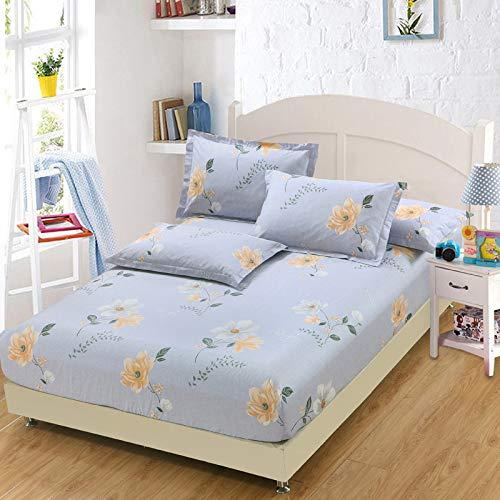 huyiming Gebruikt voor Bed sheet enkel stuk 100 bedrukte antislip matrashoes student slaapzaal sprei