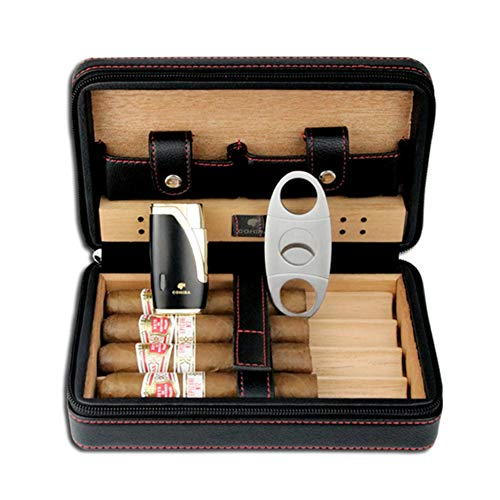 AKT Étui pour Cave à Cigares avec Briquet et Coupe-Cigare Boîte de Jeu D