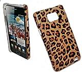 Diseño TPU carcasa para smartphone para diseño LEOPARD - marrón naranja y protector de pantalla para SAMSUNG i9100 GALAXY S2