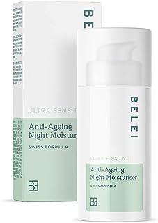 Marca Amazon - Belei Crema hidratante antiedad de noche para pieles ultrasensibles 50ml