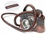 SupaDupa Leather Braided Camera Strap - Premium Quality - Men Women Neck Shoulder Sling Wrist For Sony Leica Fujifilm Canon Olympus Panasonic Nikon Pentax Binoculars Mirrorless + FREE Pad