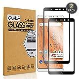 Owbb [2 Stück] Schwarz Gehärtetes Glas Bildschirmschutzfolie Für BQ Aquaris X2 Smartphone Full Coverage Schutz High Transparent Explosionsgeschützter Film