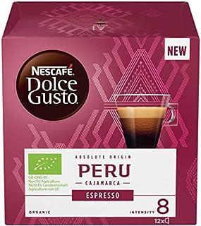 Nescafe Dolce Gusto Peru Cajamarca Lot de 4 boîtes de 12 capsules de café bio