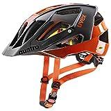 uvex Quatro CC MIPS Casco de Bicicleta, Unisex-Adult, Titan-Orange, 52-57 cm