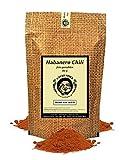 Uncle Spice Habanero Chilipulver - 80g Habanero-Chili echte RED SAVINA fein gemahlen in Premiumqualität - Habanero Chilischoten in Pulver, Chili Gewürzpulver - Achtung EXTREM SCHARF