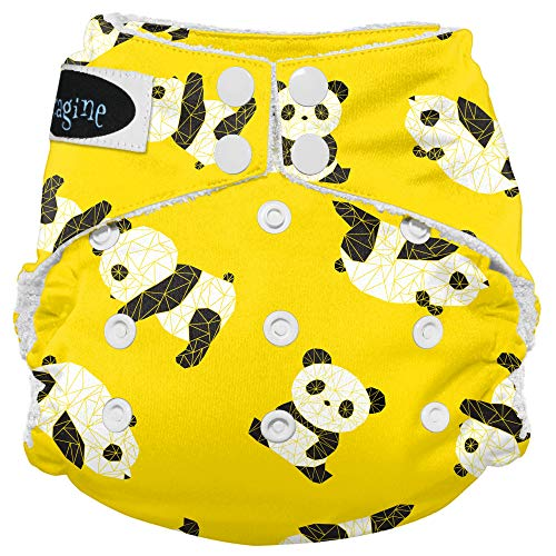Imagine Baby Products Bamboo AIO 2.0 Diaper, Snap, Panda Fold