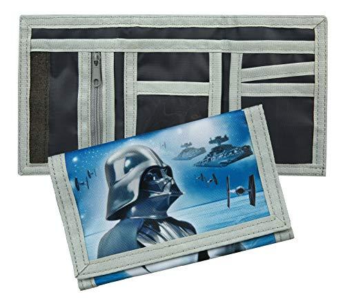 Star Wars Geldbeutel, Geldtasche, 5 Fächer inkl. transparenten Ausweisfach, Motiv Darth Vader und Stormtrooper
