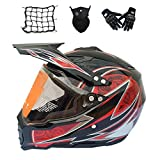 casco off road con visera