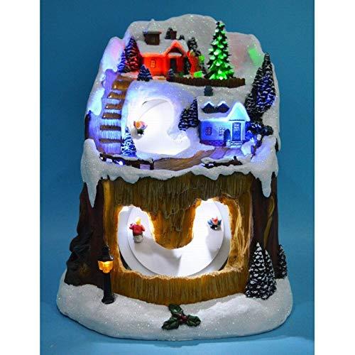 Montagne de Noël animée, Lumineuse et Musicale