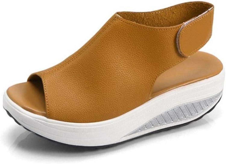 T-JULY Women Sandals Ladies Vintage Wedges Platform shoes Woman Peep Toe Soft Thick Sole Footwear Ankle Back Hook Loop Strap shoes