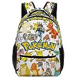 Poke-mon Mochila escolar para niños, mochilas para niños, niñas, estudiantes adolescentes,...
