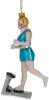 BestPysanky Treadmill Runner Fitness Girl Glass Christmas Ornament