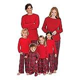 Hzjundasi Navidad Conjunto de Pijamas a Juego Familiar Manga Larga Blusa y Tartán Pantalones - Xmas PJs Ropa de Dormir Nightwear Vacaciones Suit para Dad Mom Niños Bebé