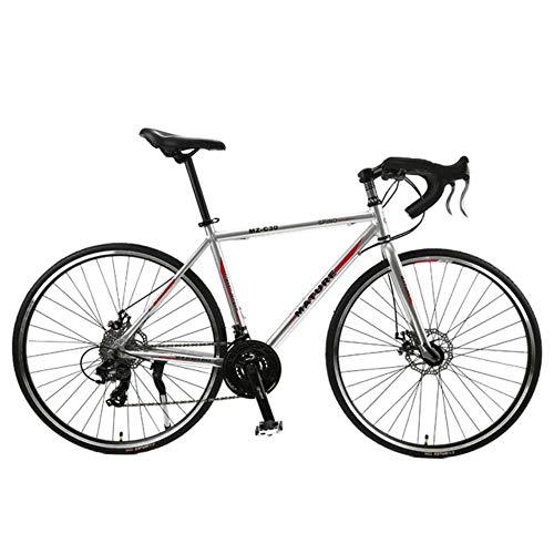GuiSoHn Rennrad 700C Aluminiumlegierung Erwachsene Rennrad Geschwindigkeit Doppelscheibenbremse Rennrad 21/27/30 Gang gebogen Rennrad Einheitsgröße GuiSoHn-514688149