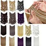 22'/24' Curly Straight Invisible Hidden Wire Synthetic Hair Extensions Secret Wire No Clips Full Thick Hairpieces