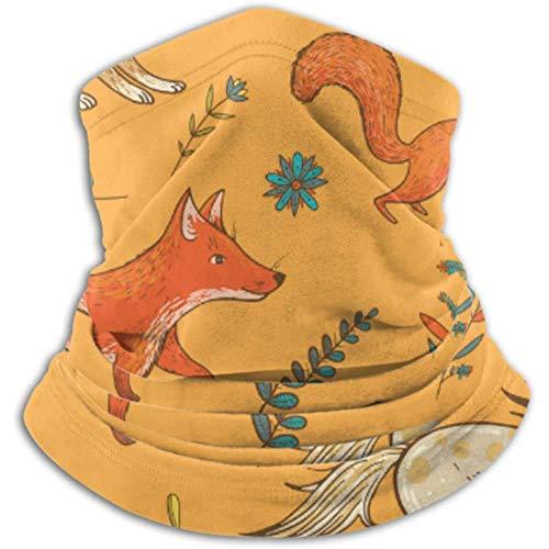 Linger In Halswärmer Süße Tiere Fuchsschal, Halsmanschette, Halskappe Halbmaske Sturmhaube Kopfbedeckung
