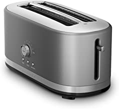 KitchenAid KMT4116CU 4 Slice Long Slot Toaster with High Lift Lever, Contour Silver (Renewed)