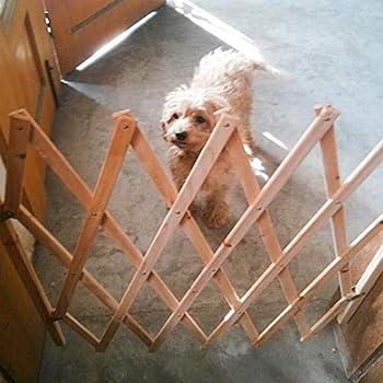 TUEU Barrière de sécurité extensible en bois pour chien et chat