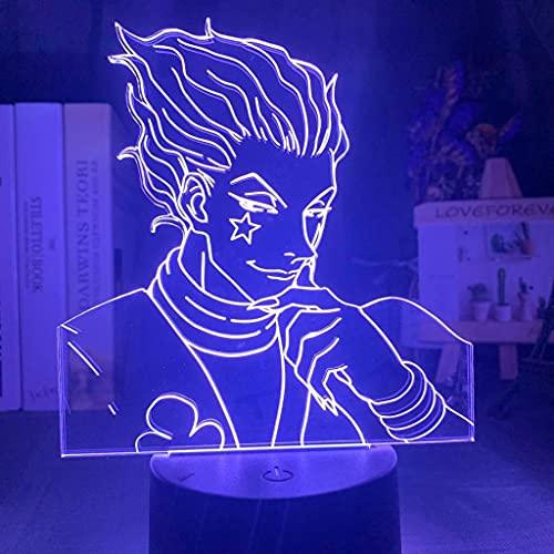 F.curella Kids Night Light Gift Led Touch Sensor Colorful Bedroom Nightlight Anime Hunter X Hunter Decor Light Cool 3D Lamp Hisoka Gadgets