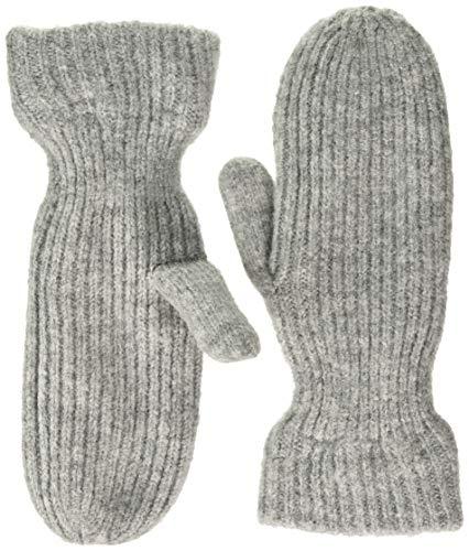 ONLY Damen ONLTESSIE KNIT RIB MITTEN Winter-Handschuhe, Light Grey Melange, ONE Size