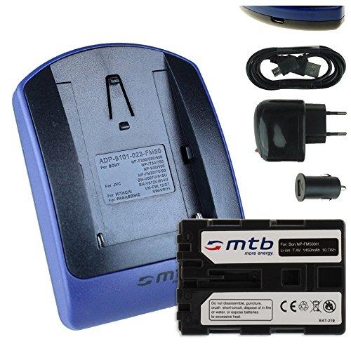 Baterìa + Cargador (USB/Coche/Corriente) FM500H Compatible con Sony DSLR Alpha A300 A350./ SLT-A58 A65 A77 A68. / ILCA-77M2 - Ver Lista!