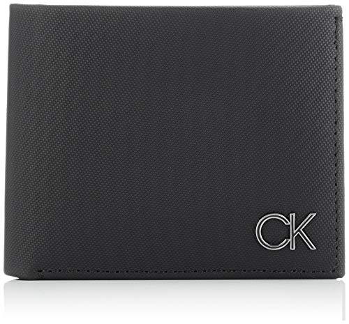 Calvin Klein Bifold 5CC W/Coin, Accesorio Billetera de Viaje para Hombre, Black,...