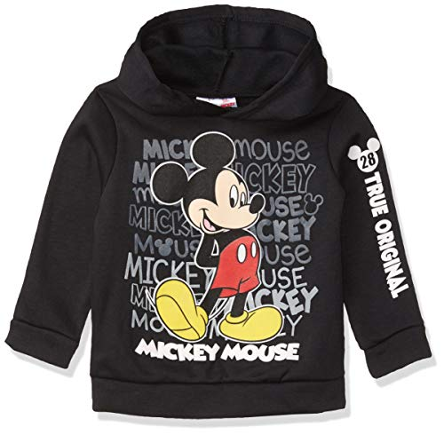 Disney Mickey Mouse Boys Athletic Fleece Pullover Hoodie Black 2T