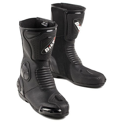Hot Sale BILT Trackstar Leather Motorcycle Boots - 9, Black