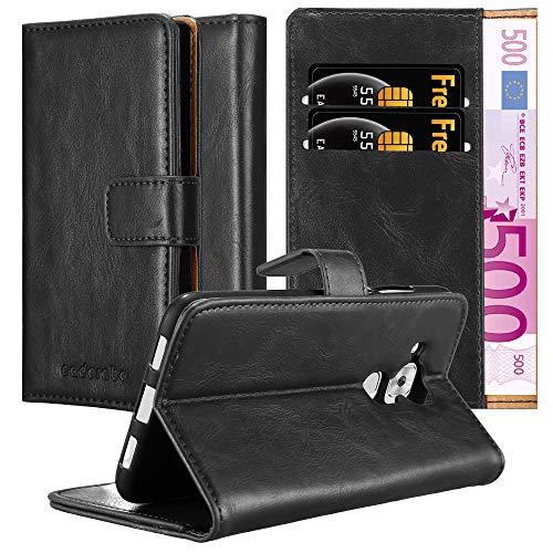 Cadorabo Funda Libro para Huawei Nova Plus en Negro Grafito – Cubierta Proteccíon con Cierre Magnético, Tarjetero y Función de Suporte – Etui Case Cover Carcasa
