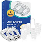 Anti Snore nose clip, Silicone Magnetic Anti Snoring Mini Nose Clips, Wonderful Sleeping Aid for Men and Women, 2 Pieces