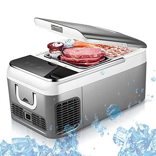 Draagbare compressorkoelkast, 12 V, autokoelkast, reiskoelkast van -20 °C tot 10 °C, intelligente temperatuurregeling, voor gekoelde levensmiddelen en medicijnen