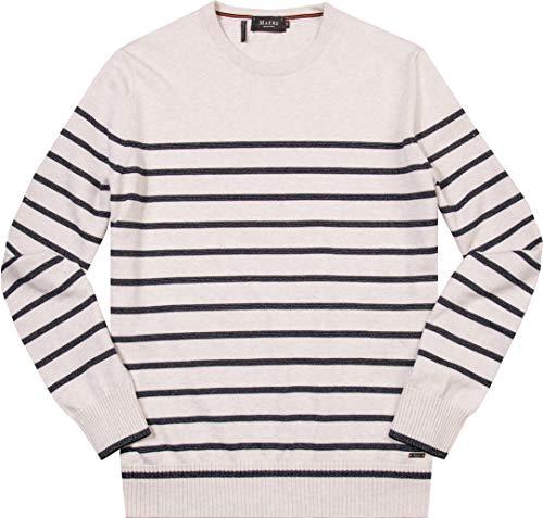 Maerz Herren 431201 Pullover, Weiß (White 502), Medium (Herstellergröße: 50)