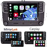 6,5' Autoradio de voiture Radio MIB2 RCD330 Carplay Mirrorlink Bluetooth pour VW Golf...