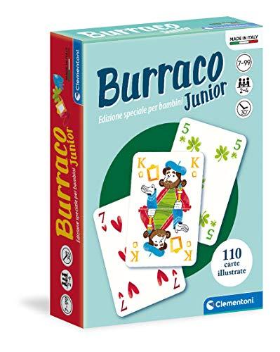 Clementoni- Carte da Gioco-Burraco Junior-Made in Italy-Giochi per Tutta la Famiglia (Versione in Italiano), 7 Anni+, 16291
